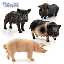 Farm Simulation Animal model Wild Boar Pig Action toy figures plastic Craft Decoration educational Best Christmas Gift For Kids farm animal model toy simulation horse and sheep ducks and geese set kids educational toy for children gift