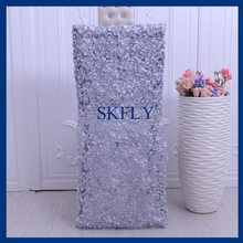 CH069A nice new standard chiavari silver or light grey emboridery flower pattern chair cover(China)