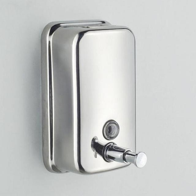 500ml Wall Mount Stainless Steel Shower Bath Soap Shampoo Dispenser For Bathroom Washroom Hotel Liquid
