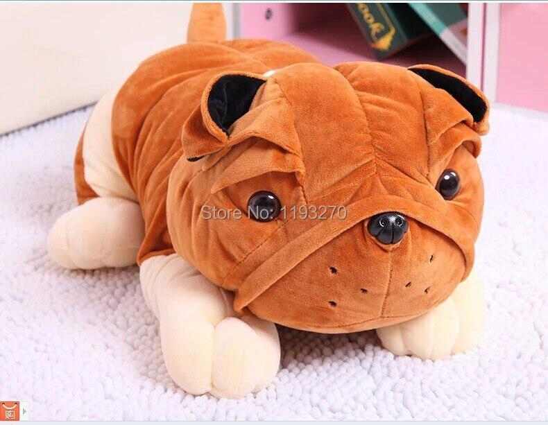 large 55 cm Sharpei dog plush toy simulation sharpei toy,throw pillow , Christmas gift w8975 фурминатор для собак короткошерстных пород furminator short hair large dog