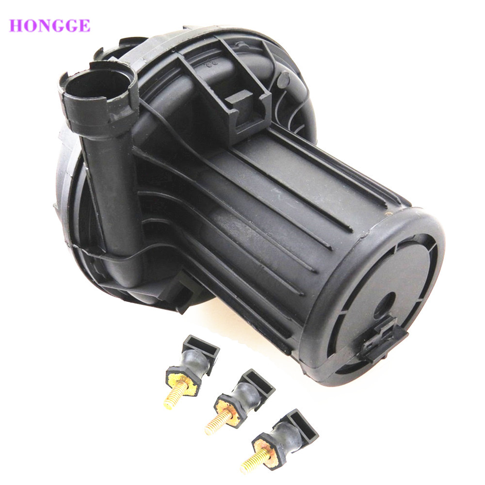 HONGGE 1.8T Smog Secondary Auxiliary Air Pump + 3x Mount For VW Touareg Tiguan Jetta Golf Passat Bora Beetle Seat 06A 959 253 B tuke oem secondary auxiliary smog air pump for vw jetta golf passat b5 bora beetle a4 a6 a8 1 8t 2 8 3 0 06a 959 253 b