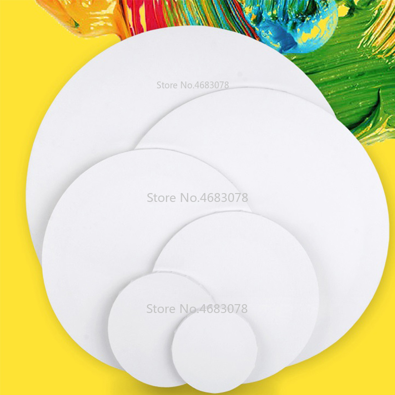 2pcs Circular Cotton Wood Frame for Professional Artist Canvas Oil Painting Framed for Primed Oil Acrylic Paint Wholesale
