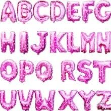 Розовый 40 см 16 дюймов A-Z Алфавит Фольга шары английские буквы вечерние шляпа цифра воздуха шарики для день рождения вечерние для детей игрушки