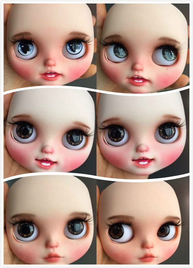 Blyth girl Customized doll Face NO QAQ0306