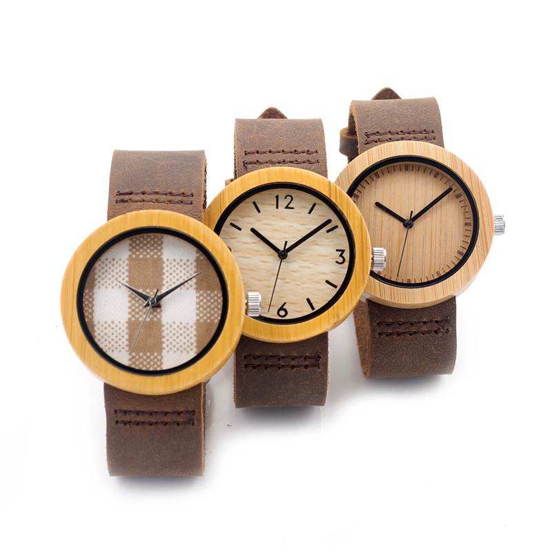 BOBO BIRD Women Watch Bamboo Wooden Wristwatches Ladies Japan Movement Quartz Horloges Vrouwen Leather Strap In Gift Box