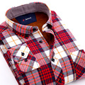 New Arrival Warm Cotton Turn-down Shirts Winter Men's Casual Long-sleeved Flannel Shirts Fashionable Plaid shirts