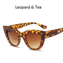74aa5adccea3a 2018 nuevas mujeres gafas de sol negro mate marca diseñador Cateye gafas de sol  para mujer gafas UV400