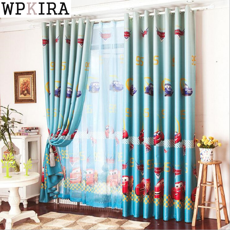 childrens bedroom curtains window car curtain living room boys children blue 11095