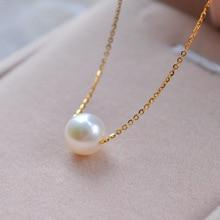 Новинка, простое модное высококачественное жемчужное ювелирное изделие, колье, Золотая цепочка, массивное ожерелье и кулоны, подарки для женщин