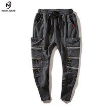 Pantalones nuevas ideas 2018 hombres de moda de algodón con cremallera  pantalones primavera Pantalones Hip Hop 37bfca184a7