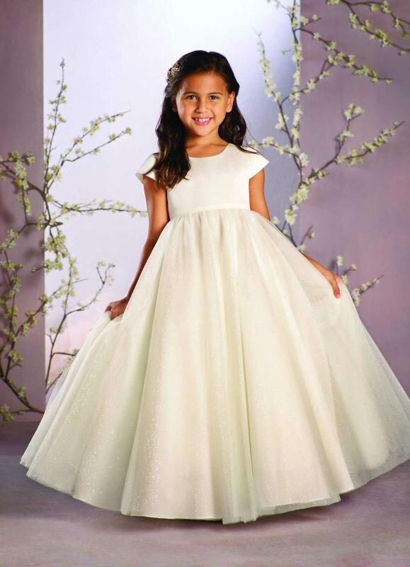 2017 Toddler Glitz Pageant Dresses Tulle Flower Girl Dresses White Mother Daughter Dresses Kids Beauty Pageant Dresses
