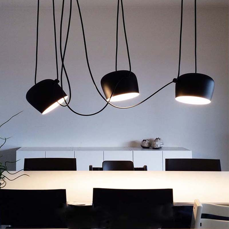 Minimalism Aluminum Black/White Hanging Modern Pendant Lights For Dining Kitchen Room Bar Home Dec Pendant Lamp Free Shipping modern guard dining room pendant lights white black golden silver lamp