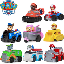 Paw Patrol Dog Puppy Patrol Car Ryder Patrulla Canina Toys Collection Action Figures Scroll Toy patrol juguetes Kids Toy Genuine цена в Москве и Питере