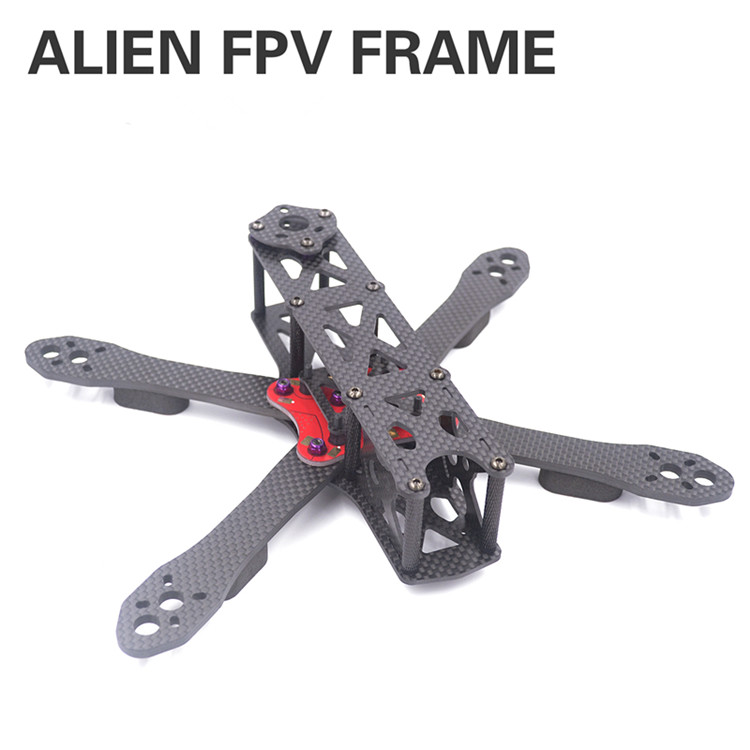 DIY mini drone ALIEN 5 Alien FPV cross racing quadcopter pure carbon fiber frame Arm/lower plate/apical plate Parts diy fpv mini drone qav210 quadcopter frame kit pure carbon frame cobra 2204 2300kv motor cobra 12a esc cc3d naze32 10dof