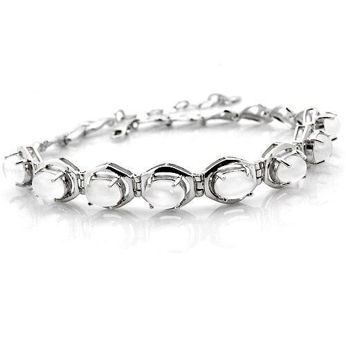Naturelles Moonstone Bracelet 925 en argent Sterling belle femme élégante de noël bijoux fille de naissance Valentine cadeau sb0004m