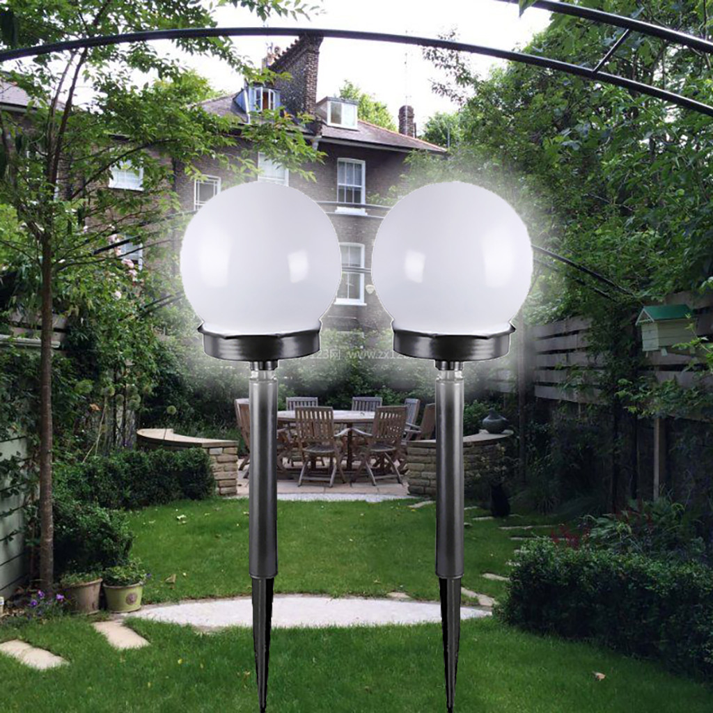 Garden Gnome W// Solar Lamp Post Outdoor Decoration Garden Light Auto On At Dusk
