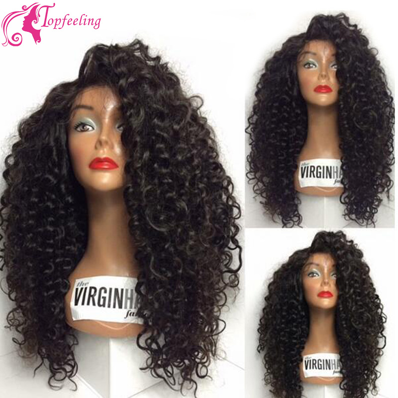 New Long Curly Wig Virgin Brazilian Hair Lace Front Wigs