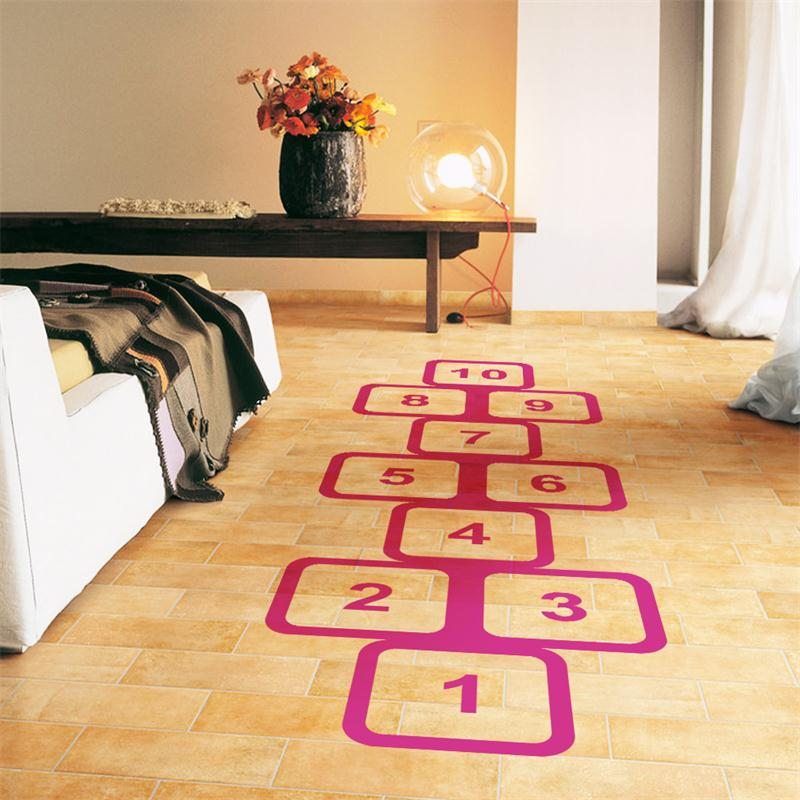 Childhood happy memory Jump checks game home decor wall stickers ...