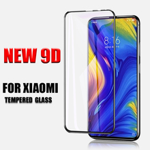 XENO New 9D Full Cover Tempered Glass For Xiaomi Mi Mix 3 Protective Glass Transparent Screen Protector For Xiaomi Mix 3 9H Film 9h 2 5d 0 28mm protective tempered glass screen protector for xiaomi 4 transparent