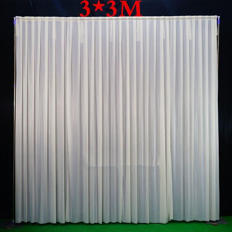 3*3 M/3x6 M (10 pieds x20feet)/4*8 M toile de fond de mariage tuyau et drapé support de toile de fond avec cadre en acier inoxydable rideau avec toile de fond