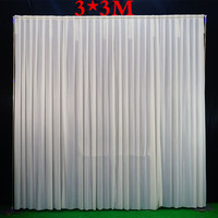 3*3M / 3x6M(10feet x20feet) / 4*8M Wedding Backdrop Pipe & Drape Backdrop Stand with Curtain Stainless steel Frame with Backdrop