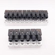"""GOGO válvula solenoide de aluminio neumática de 3 vías, puerto 3V1 06, 1/8 """", BSP, AC, DC, micro control, colector de válvula eléctrica de gas"""