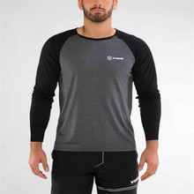 2019 SUMMER Brand Clothing Men's Long Sleeve Round Neck T-shirts Casual Baseball Tshirt Men Raglan Tee Streetwear Plus Size lace raglan sleeve keyhole tee