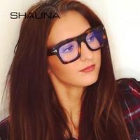 c149946d7849f SHAUNA Oversize Square Eyeglasses Frame Women Optical Frame Men Glasses.  SHAUNA Oversize Óculos Quadrados Enquadrar Mulheres ...