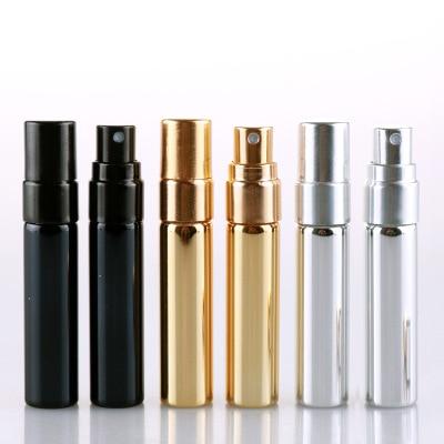20pcs/lot 5ML Portable Refillable Glass Perfume Bottle With Aluminum Sprayer Empty Cosmetic Parfume Vial For Traveler