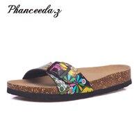 בתוספת גודל 5-11 קיץ סגנון למעלה איכות נעלי בית פקק כישלון להעיף סנדלי אישה נעלי אבזם אופנה מזדמן נעלי בית משלוח חינם