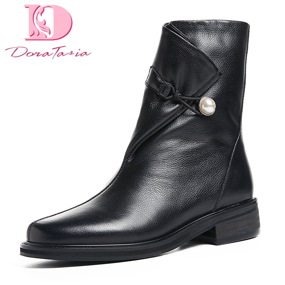 DoraTasia Brand new Top Quality western boots women Ankle Boots Woman Shoes genuine leather Casual Retro Woman BootsDoraTasia Brand new Top Quality western boots women Ankle Boots Woman Shoes genuine leather Casual Retro Woman Boots