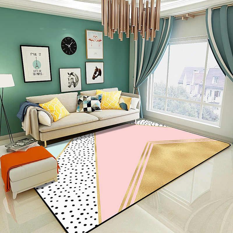 200x300cm Nordic Pink Rugs Thicken Soft Carpet Kids Room ...