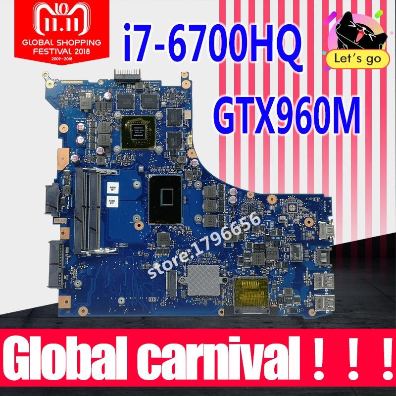 GL552VW carte mère REV2.0 I7-6700HQ GTX960M Pour ASUS GL552V ZX50V GL552VW mère d'ordinateur portable GL552VW carte mère 100% testé OK