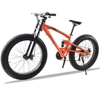Bike 26X4 0 Mountain Bicycle 21speed Lightweight High Carbon Steel Front And Rear Mechanical Disc Brake