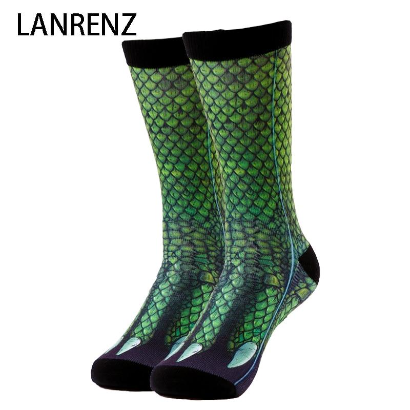 2017 dragon griffe impression Hommes et femmes de mode Drôle chaussettes 3d imprimé chaussettes 200 à tricoter peinture à l'huile de compression chaussettes