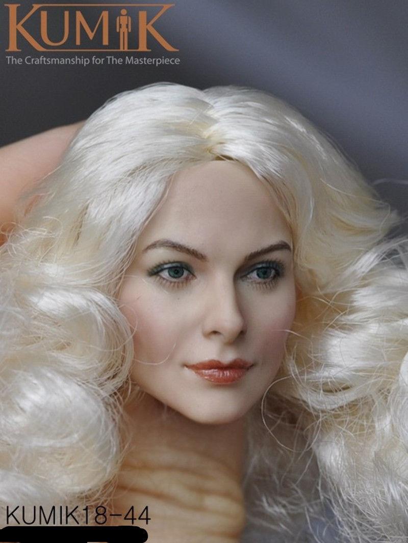 "White 1//6 Scale Woman Hair Wig For 12/"" Female Head Sculpting BJD Dolls"