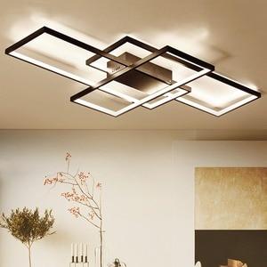 Image 2 - NEO GLeam New Black or White Aluminum Modern Led Chandelier For Living Room Bedroom Study Room AC85 265V Ceiling Chandelier