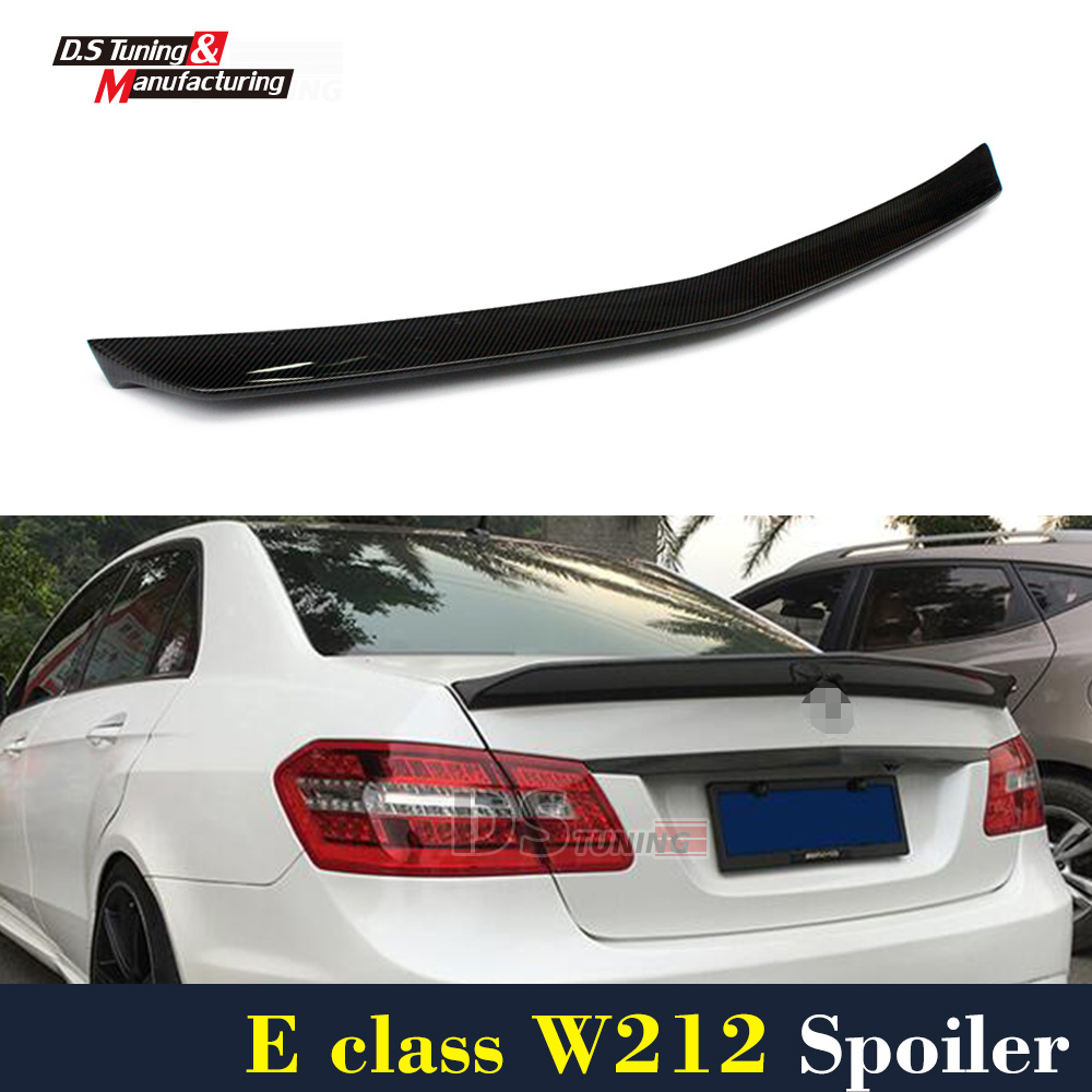 Mercedes W212 Veath Style Carbon Fiber Spoiler For Benz E Class W212 2010 - Present mercedes w207 replacement amg style spoiler for benz e class w207 2010 tail rear trunk spoiler wing carbon fiber car styling