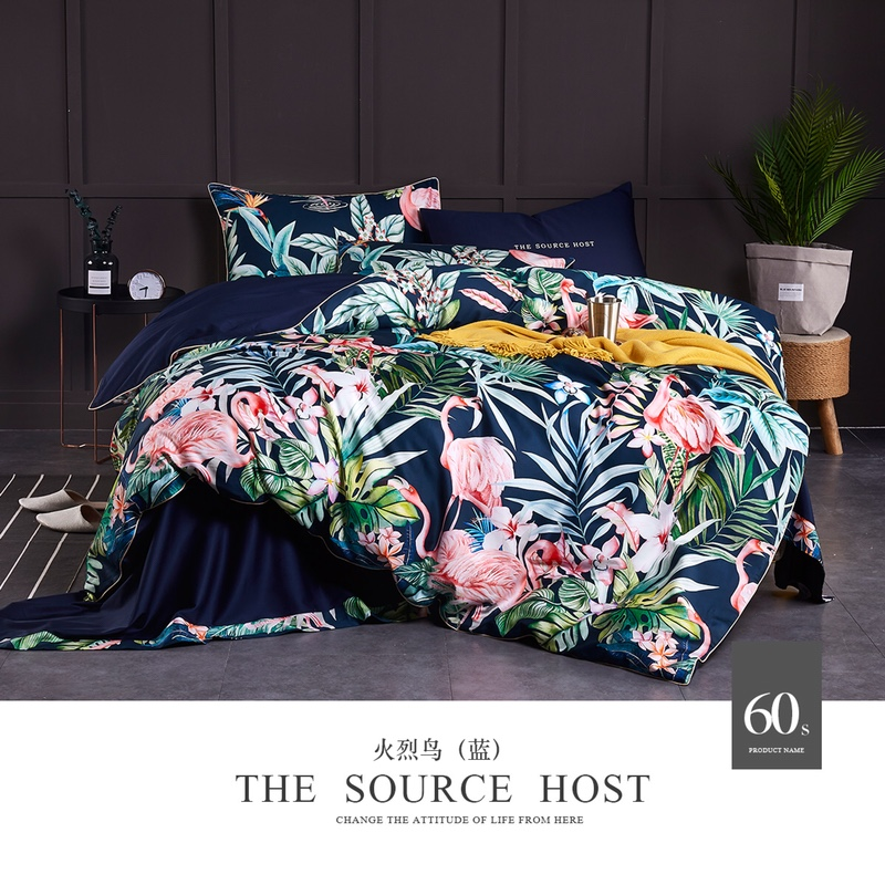 No.21-25 Nordic style duvet cover set 4pcs 60S Egyptian Cotton bed linens sateen bedding queen size Double doona quilt covers