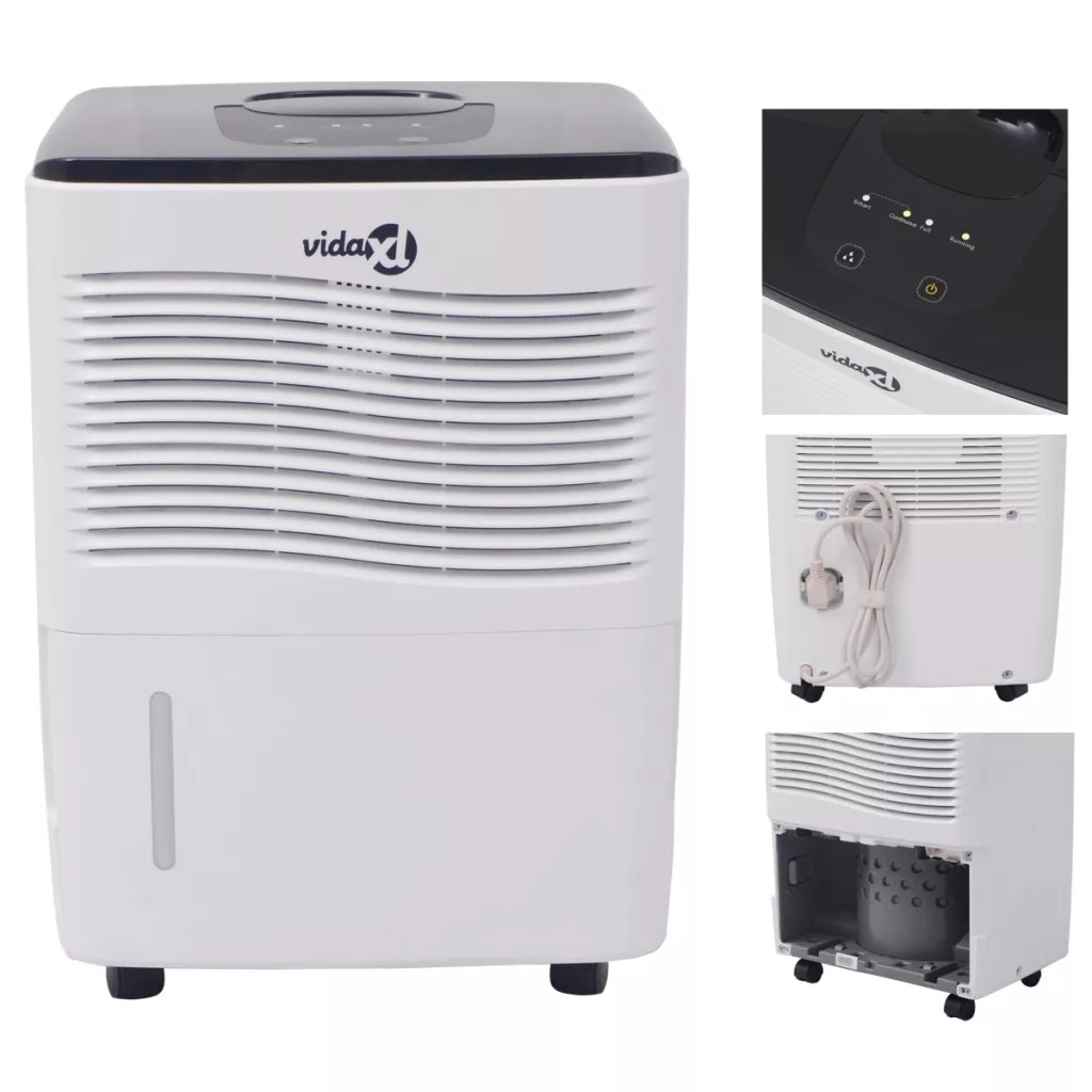 VidaXL Home Dehumidifier 230 W 12 L 24 H Dehumidification Capacity Quiet Dehumidifier Suitable For Bedrooms