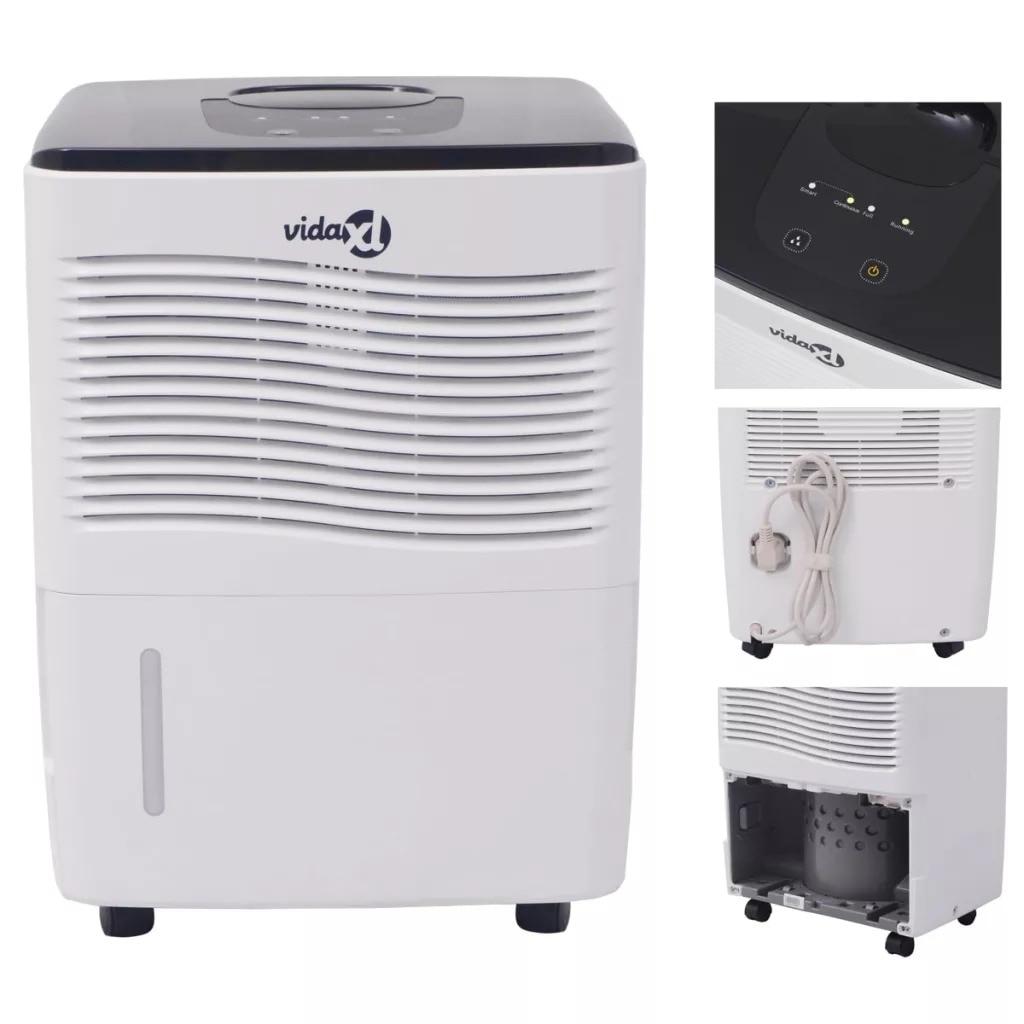 VidaXL Home Dehumidifier 230 W 12 L/24 H Dehumidification Capacity Quiet Dehumidifier Suitable For Bedrooms Kitchens Closets