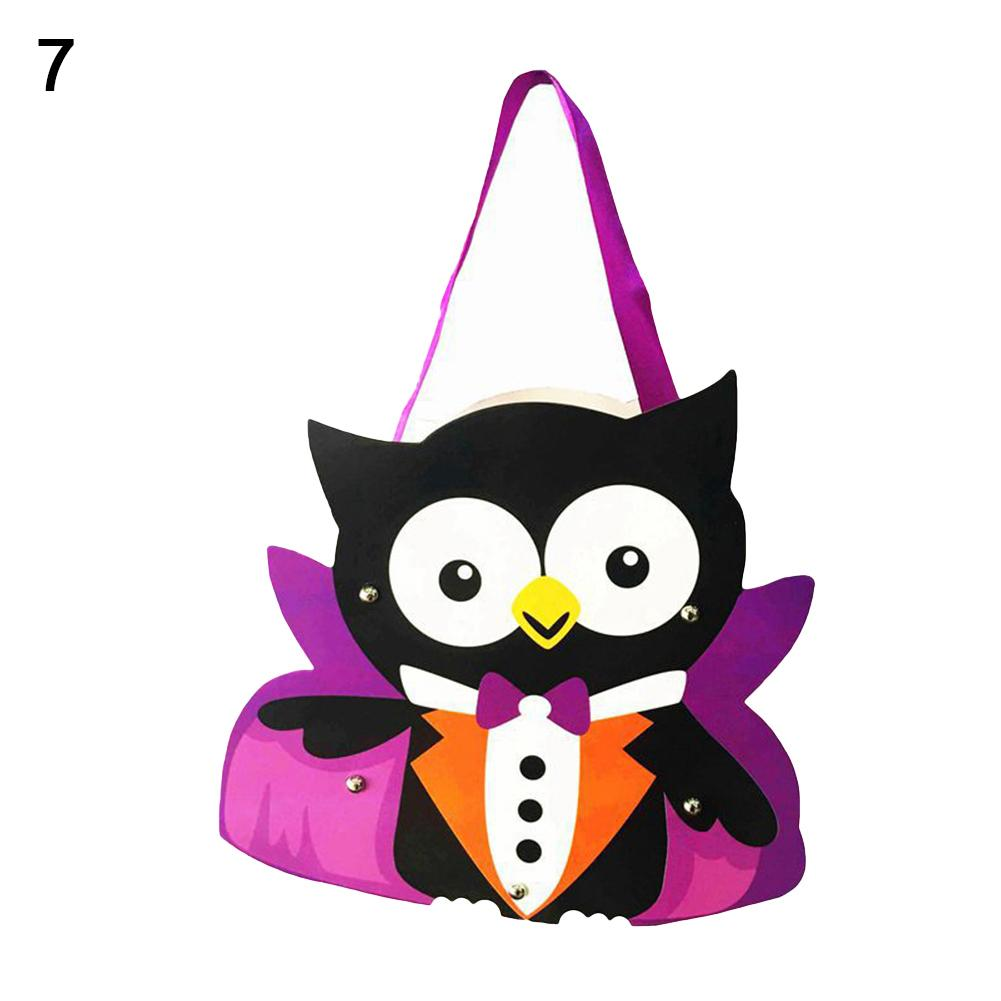 Kids Handwork DIY Halloween Cartoon Ghost Castle Pumpkin Gift Candy Bag Handbag Halloween Theme