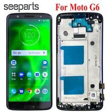 LCD dla Motorola Moto G6 XT1925 wyświetlacz LCD ekran dotykowy Digitizer zgromadzenie 100% testowane dla Moto G6 wyświetlacz LCD wymiana
