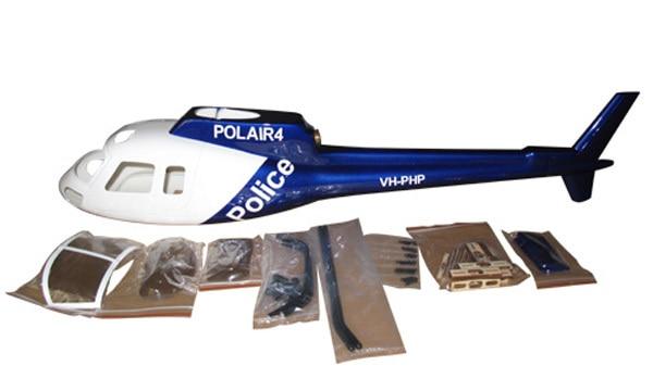 AS 350 AS350 450 scale Fiber Glass fuselage T REX450SE V2 Sport Titan E325 as heliartist