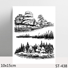 AZSG Landscape Painting Clear Stamps/Seals For DIY Scrapbooking/Card Making/Album Decorative Silicone Stamp Crafts