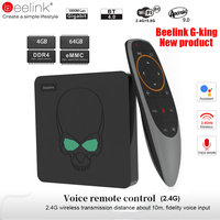 Beelink GT King Smart Android TV Box Android 9.0 Amlogic S922X 4GB 64GB 2.4G Voice Control 5.8G WiFi 1000Mbps LAN Set Top Box
