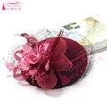 Moda chapéus do casamento para noivas diâmetro 18 cm accessoires mariage noiva headpiece cabelo-acessórios-barato 7 Cores Z688