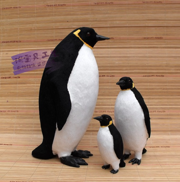 simulation penguin fur model toy teaching model ornament home decoration gift h1457