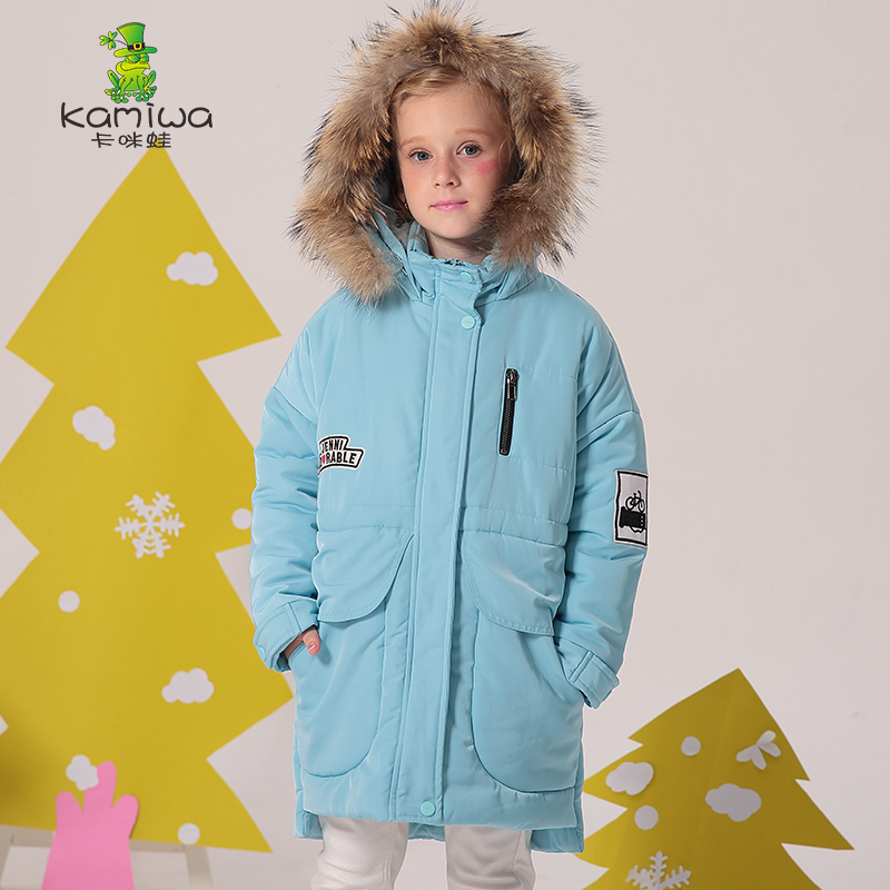 KAMIWA 2017 Cotton-padded Girls Winter Coats And Jackets Hooded Thick Long Kids Outwear Warm Clothes Parkas Baby Girls Clothing платье lusio lusio lu018ewzvl44
