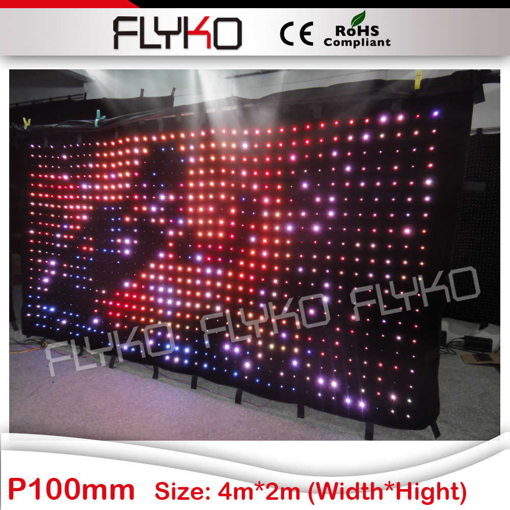 free shipping party decorations led displays curtain light with edit software ...